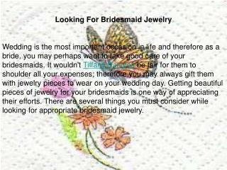 Looking For Bridesmaid Jewelry