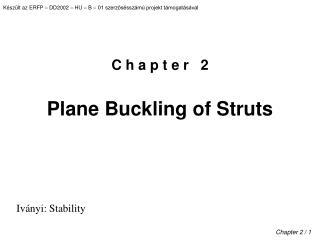 C h a p t e r   2 Plane Buckling of Struts