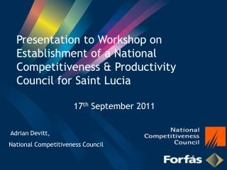 Adrian Devitt,  National  Competitiveness Council