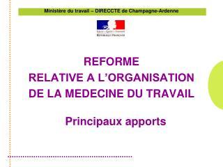 Ministère du travail – DIRECCTE de Champagne-Ardenne