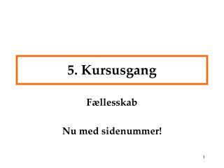 5. Kursusgang