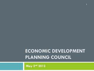 Economic Development planning council