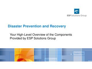 Disaster Prevention and Recovery