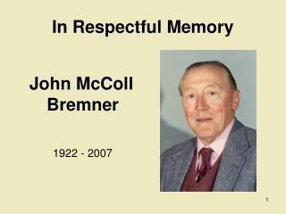 In Respectful Memory