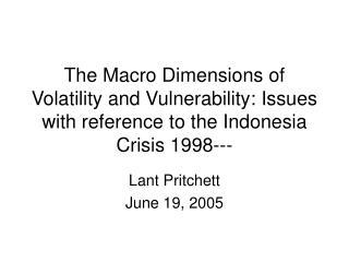 Lant Pritchett June 19, 2005