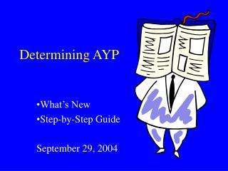 Determining AYP
