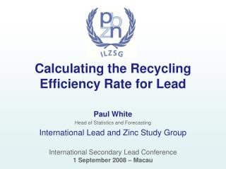 Calculating the Recycling Efficiency Rate for Lead