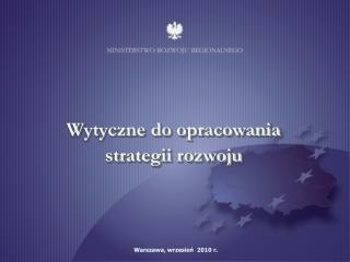 Wytyczne do opracowania strategii rozwoju