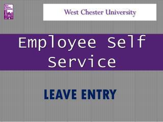Employee Self Service