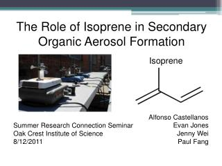The Role of Isoprene in Secondary Organic Aerosol Formation