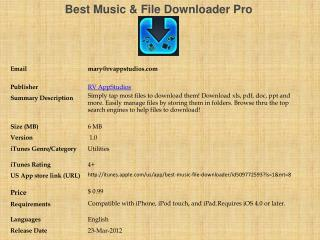 Best Music & File Downloader Pro