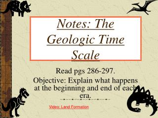Notes: The Geologic Time Scale