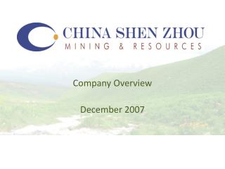 Company Overview December 2007