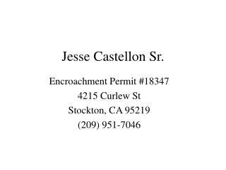 Jesse Castellon Sr.
