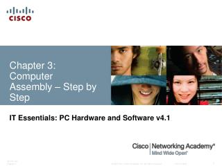 Chapter 3:  Computer  Assembly   Step by Step