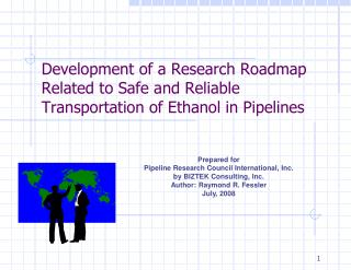 Development of a Research Roadmap Related to Safe and Reliable ...