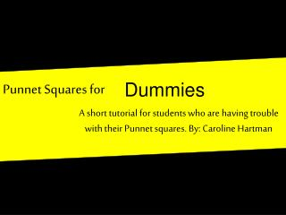 Punnet Squares for