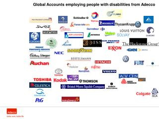 Global Accounts employing people with disabilities from Adecco
