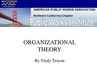 ORGANIZATIONAL THEORY By Vitaly Troyan