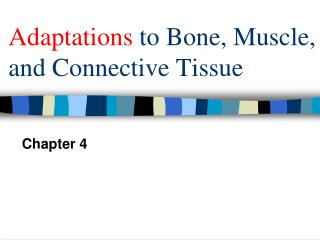 Adaptations  to Bone, Muscle, and Connective Tissue