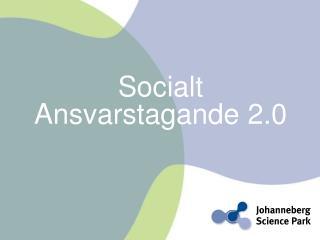 Socialt  Ansvarstagande 2.0