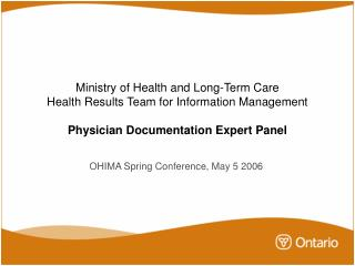 OHIMA Spring Conference, May 5 2006