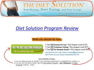 Diet Solution Program Review