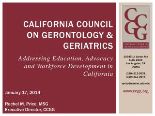 California Council on Gerontology & Geriatrics
