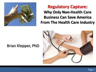 Regulatory Capture: