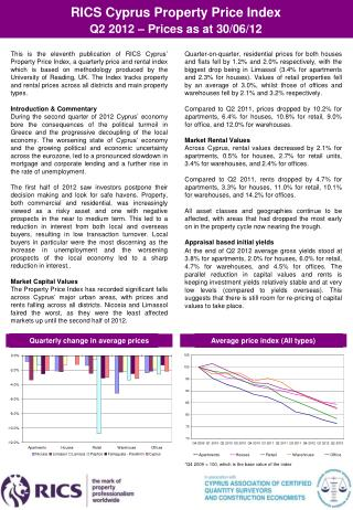 RICS Cyprus Property Price Index  Q2  201 2 – Prices as at 30/06/12