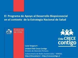 Lucia Vergara P. Unidad Chile Crece  Contigo División de Atención Primaria
