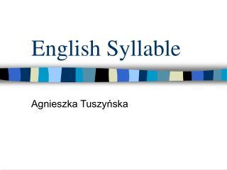 English Syllable