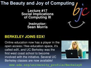 Berkeley joins edx!