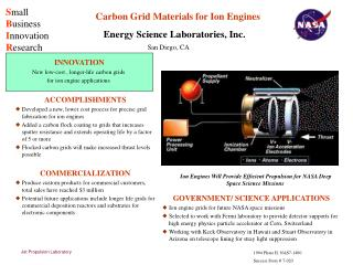 Carbon Grid Materials for Ion Engines