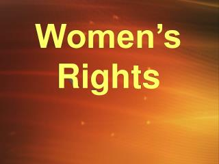 Women�s Rights