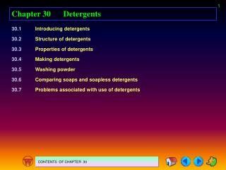 Chapter 30	Detergents