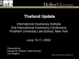 Thailand Update