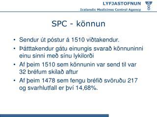 SPC - könnun