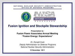 Fusion Ignition and Stockpile Stewardship
