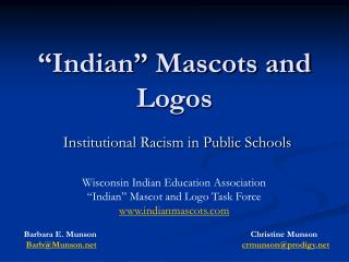 �Indian� Mascots and Logos