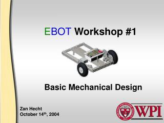 E BOT  Workshop #1