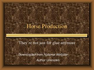 Horse Production
