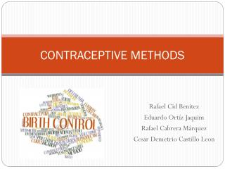 CONTRACEPTIVE METHODS