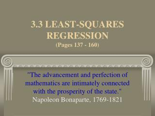 3.3 LEAST-SQUARES REGRESSION  (Pages 137 - 160)