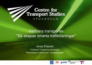 """Hållbara transporter """"Så skapas smarta trafiklösningar"""""""