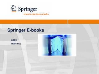 Springer  E-b ooks