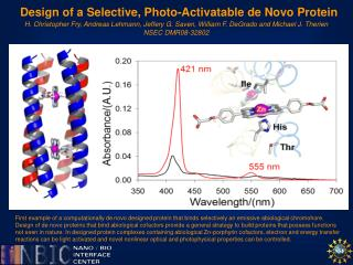 Design of a Selective, Photo- Activatable  de Novo Protein