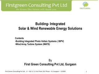 Building- Integrated  Solar & Wind Renewable Energy Solutions By