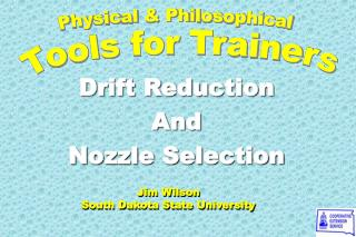 Drift Reduction  And  Nozzle Selection