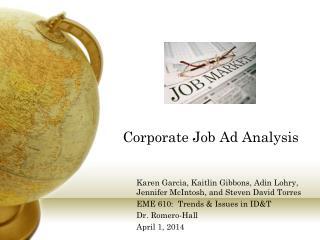 Corporate Job Ad Analysis